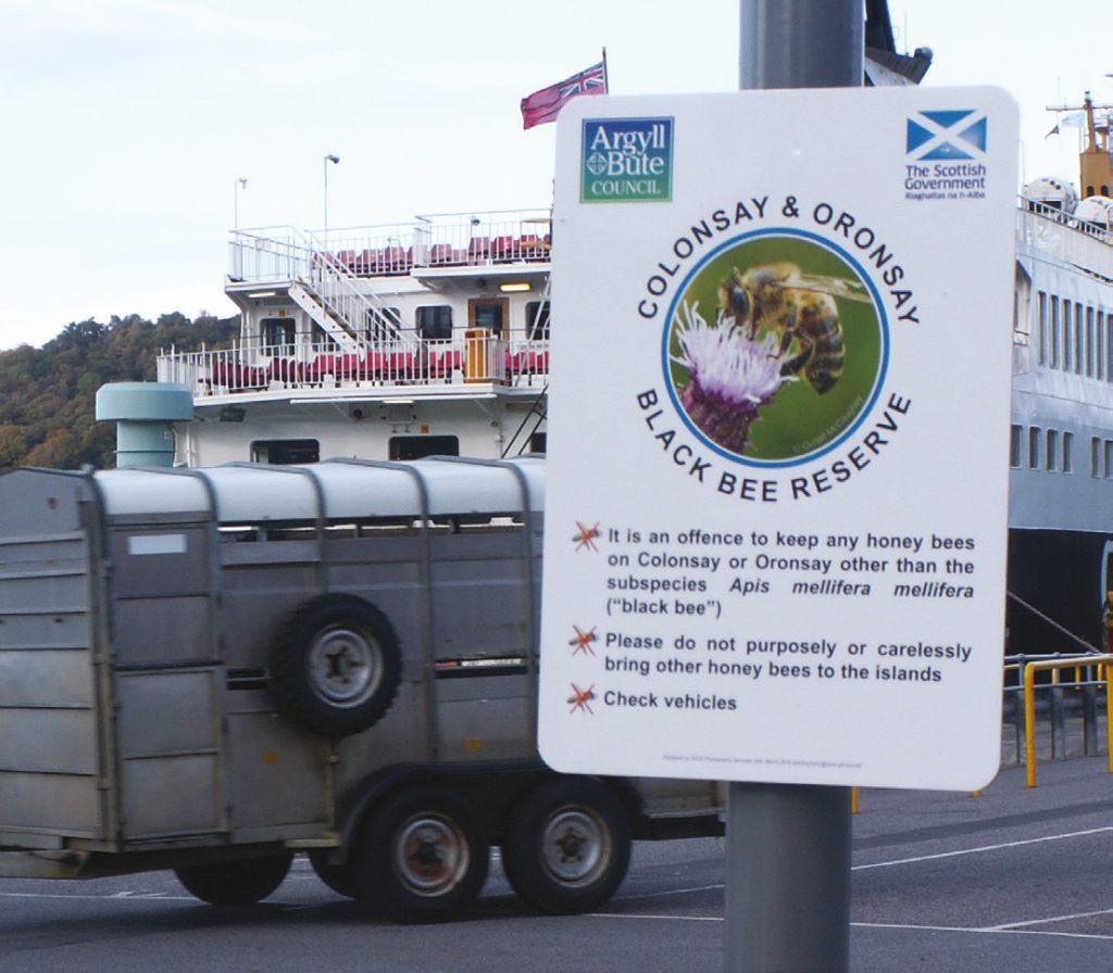 Reserve signage, Oban ferry terminal
