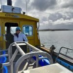 Jilly Halliday on the only means of transport between the 5 islands, fast boat